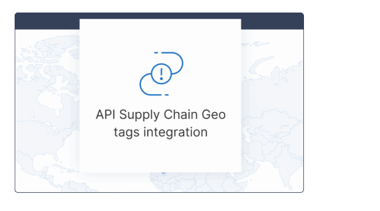 Map of the world with the mention of Kezzler's API Supply Chain Geo tags integration.