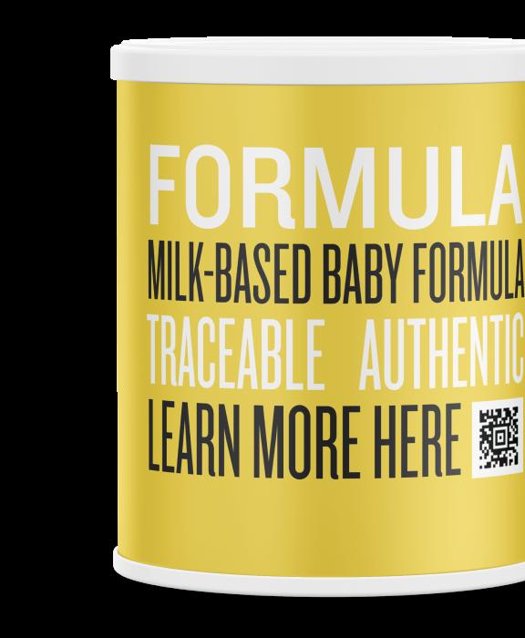 Traceable, authentic box of infant formula, dairy kezzler