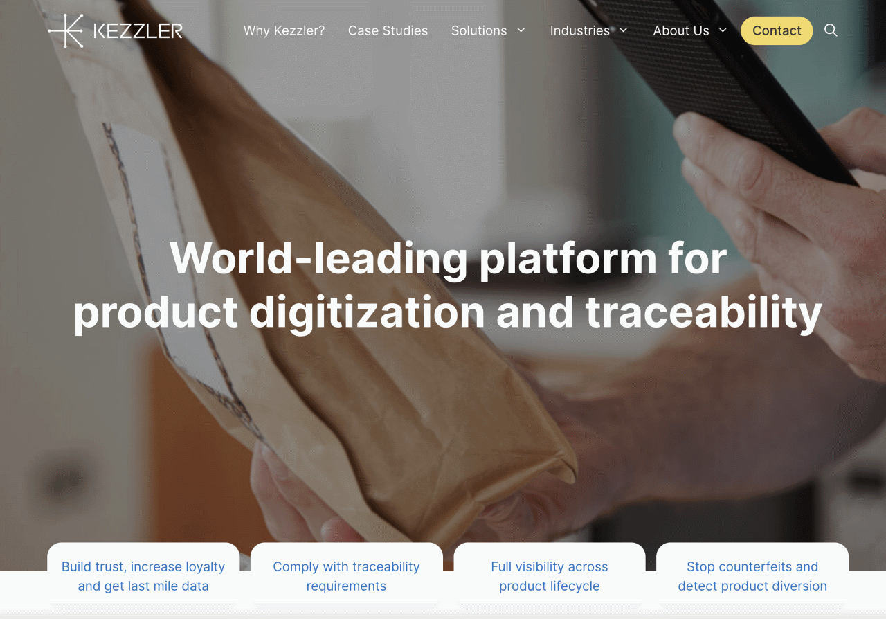 World-leading platform for product digitization and traceability